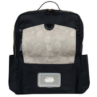 TWELVElittle PeekABoo Diaper Backpack Black